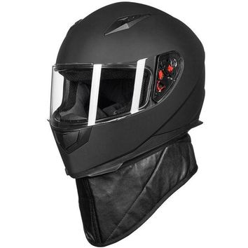 ac NOOW2 New ILM DOT Full Face Motorcycle Helmet + 2 Visors + Neck Scarf  7 Color Fashion Quick Release Helmet Matte Black Red M L XL