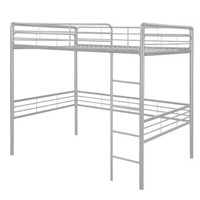 Dorel Home Products Full Loft Bed, Silver