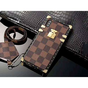 LV x Supreme co-branded tide brand men and women iphone x mobile phone case cover