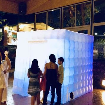 Wedding inflatable photobooth lighted tent w/ WiFi Bluetooth action camera