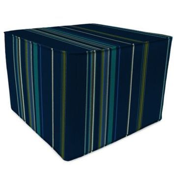 SUNBRELLA® Outdoor Square Pouf Ottoman in Stanton