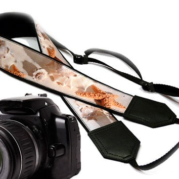 DSLR Camera Strap. Sea Camera Strap. Beach camera strap. Camera accessories. Photographer gift. Shell