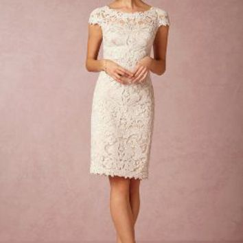 Hadley  Wedding Guest  Wedding Guest Dress by Anthropologie x BHLDN in Ivory/natural Size: