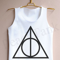 Deathly Hallows Symbol - Tank Top , Tank , Cute Tank Top , Deathly Hallows Symbol Tank Top , Harry potter Tank top