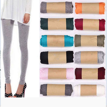 2017 NEW Women's Sexy Stretchy Skinny Cotton thin High Waist Pants Compression Sexy Hips Push Up Leggings Pants Trousers CH118