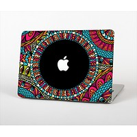 The Vector Colored Aztec Pattern WIth Black Connect Point Skin Set for the Apple MacBook Pro 15""