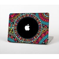 The Vector Colored Aztec Pattern WIth Black Connect Point Skin Set for the Apple MacBook Pro 13""