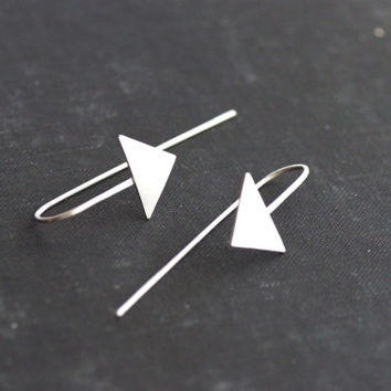 Cupid's Arrow Earrings  Sterling Silver by SDMarieJewelry on Etsy