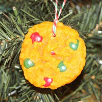Chocolate Candy-Coated Cookie, Scented Cookie Ornament, Christmas Tree Ornament