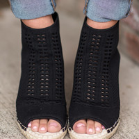 Steven By Steve Madden: Evers Wedges, Black