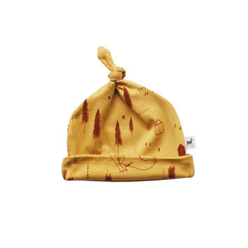 Winter Friends Golden Knot Infant Hat