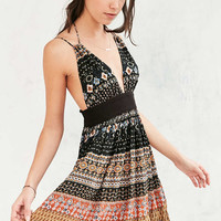 Ecote Black Paisley Halter Neck Dress - Urban Outfitters