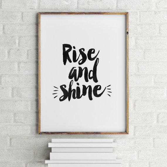 PRINTABLE Art, RISE And From TypoArtHouse On Etsy