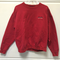 Chaps by Ralph Lauren Sweatshirt Pullover Crew Neck Red Large