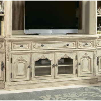 American Drew Jessica McClintock Boutique Entertainment Console in White