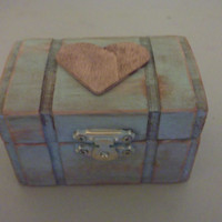 Something Blue Woodland Shabby Chic Wedding Ring Box Pillow