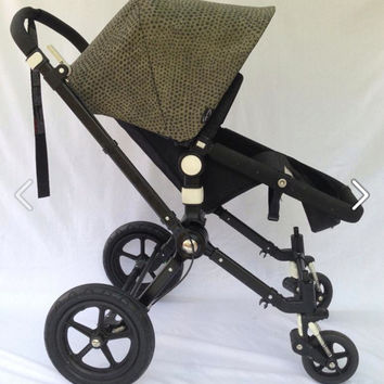 Snakeskin Print Replacement Canopy or Hood for Bugaboo Cameleon, Frog, Old Bee, Donkey