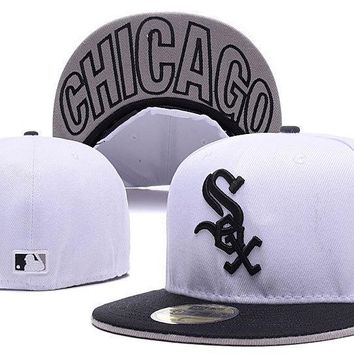 qiyif Chicago White Sox New Era MLB Cap Americana Ultimate 59FIFTY White HAT