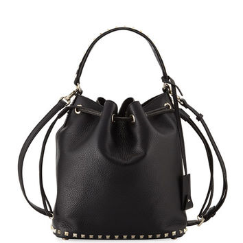 Valentino Garavani Rockstud Large Leather Bucket Bag
