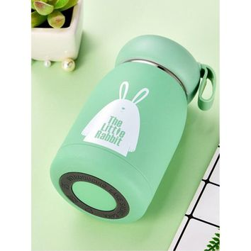 Rabbit Print Vacuum Bottle With Wristlet 320ML