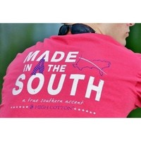 """Made in the South"" Pocket Tee in Red by High Cotton"