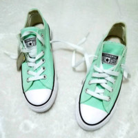 Converse All Star Sneakers canvas shoes for Unisex sports shoes low-top mint green