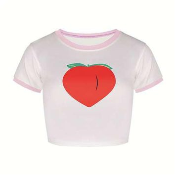 Peach Crop Top