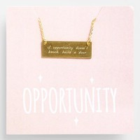Women's Alisa Michelle Designs 'If Opportunity Doesn't Knock' Necklace