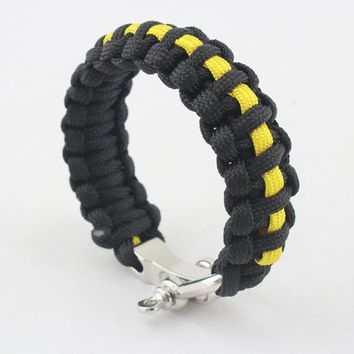 Outdoor Survival Bracelets Camping Braided Pulseras Rescue Paracord Parachute Men Emergency Rope Adjustable Stainless Buckles