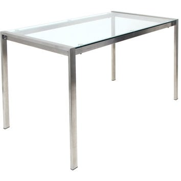 Fuji Dining Table, Clear