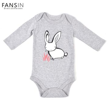 FANSIN Brand Rabbit Newborn Soft Cotton Baby Romper O-neck Costume Long Sleeve Girl Boy Rompers Baby Clothing Next baby Jumpsuit