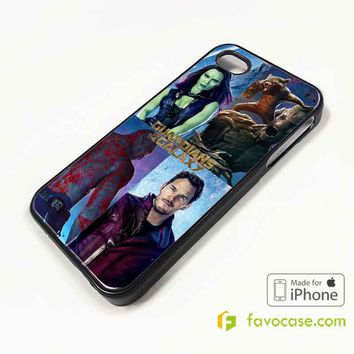 GUARDIANS OF THE GALAXY Marvel iPhone 4/4S 5/5S/SE 5C 6/6S 7 8 Plus X Case Cover
