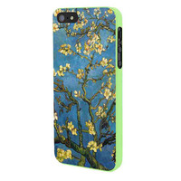 Almond Branches In Bloom By Vincent Van Gogh iPhone 5 Case Framed Green
