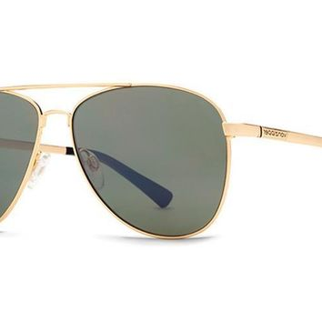VonZipper - Statey Gold GGN Sunglasses, Vintage Gray Lenses