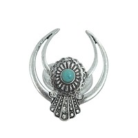 Southwestern Navajo Turquoise Crescent Naja Ring