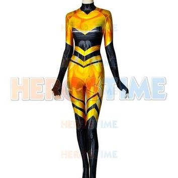 Cool High Quality Queen Bee Cosplay Costume 3D Print Chloe Queen Bee Miraculous Ladybug Spandex Suit Zentai Bodysuit Custom MadeAT_93_12