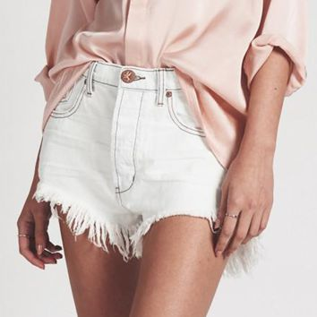 One Teaspoon Coconut Le Wolves Shorts
