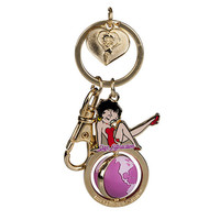 Universal Studios Betty Boop Globe Spinner Keychain New With Tags