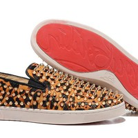 DCCK2 Leopard skin Christian Louboutin with gold spikes