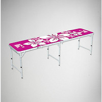 8' Pink Hawaiian Beer Pong Table - Spencer's