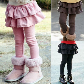 Nice Kids Girls Cake Culottes Leggings With Tutu Skirt Pants 18558_W_26601 Children's Clothing = 1745562564