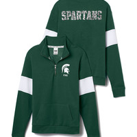 Michigan State Bling Half-Zip Pullover
