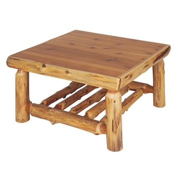 Cedar Open Coffee Table Standard Finish