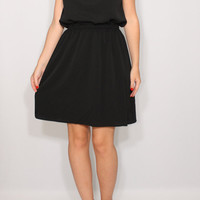 Short black dress Little black dress Chiffon dress Braidesmaid dress Keyhole dress