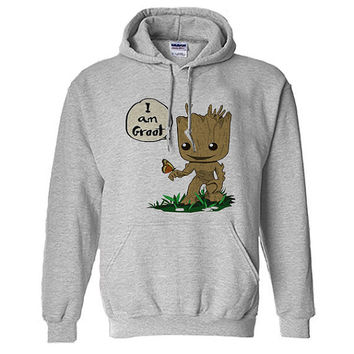 i am groot with butterfly funny hoodie for unisex