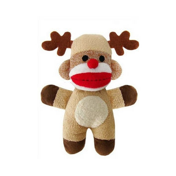 Sock Monkey — Jingles the Reindeer