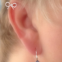 NEW  Cartilage Piercing Dainty Bow STERLING
