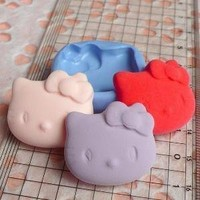 Mold / Mould  Flexible Hello Kitty Head Mold by MiniatureSweet