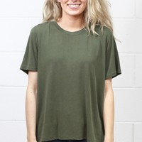 Basic Short Sleeve Modal Tee {Olive}