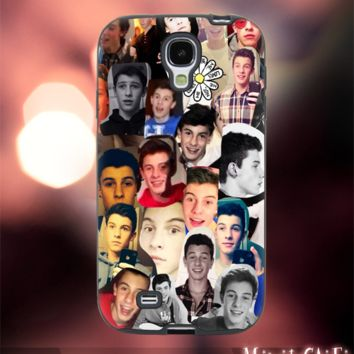 MC24Y-30-Magcon Boys, Shawn Mendes ,collage -Accessories case cellphone-Design for Samsung Galaxy S5 - Black case - Material Soft Rubber